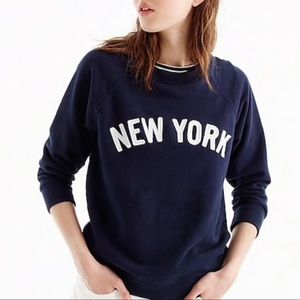 "Jcrew ""New York"" navy crewneck"